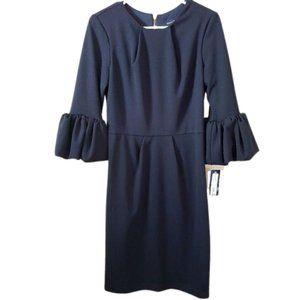 Betsy & Adam Bell-Sleeve Mini Sheath Dress